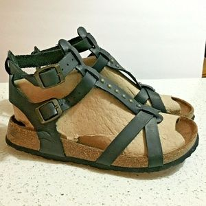Roberto Vianni Sandals 8 Leather Black Gladiator